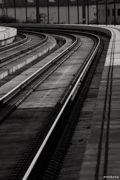 Vias de tren en el Puerto de Sta. María