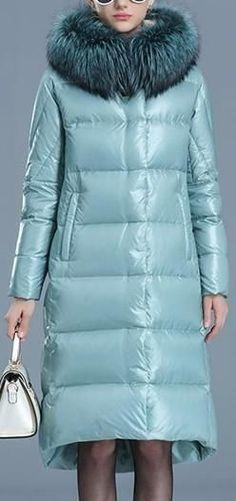 Fur-Hooded Puffer Coat