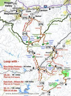 Great Map showing you the best routes to take on your motorcycle ...