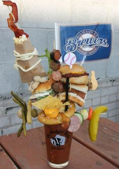 Arguments over how to concoct the perfect Bloody Mary are as old as human history — older, even. (Its in the Bible. Trust me.) However, ODaveys Pub in Fond du Lac, WI finally created a flawless recipe in honor of opening day for the Milwaukee Brewers. It is: