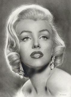 Pencil drawing of Marilyn Monroe