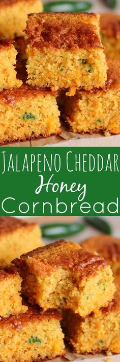 Jalapeno Cheddar Honey Cornbread -  This bread is SO good.  It's loaded with amazing flavor.