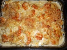 Gratin of cod with Breton cheese