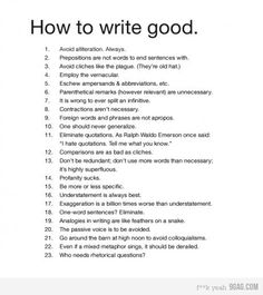 How to write good (Grammar Nazis everywhere will enjoy this one!)