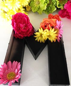 DIY Floral Letters -