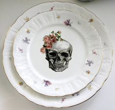 Goth Shopaholic: New Skeleton-Themed Dishes for Teatime from Angioletti Designs
