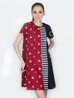Dress motif jumputan