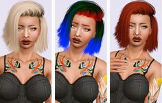 Stealthic High Life hairstyle converted by Beaverhausen for Sims 3 - Sims Hairs - http://simshairs.com/stealthic-high-life-hairstyle-converted-by-beaverhausen/