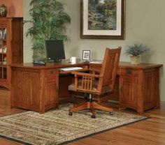mission style office furniture | for my craftsman style home