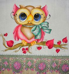 Buho Owl Bird, Pet Birds, Tole Painting, Fabric Painting, Owl Artwork, Owl Cartoon, Owl Pictures, Owl Crafts, Cute Owl