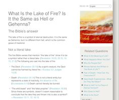 What is lake of  fire?