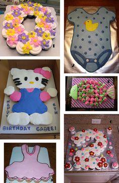 10 cupcake cakes ideas!Τούρτες από cupacakes: ιδέες και μυστικά