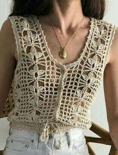 Best 12 Ada – lacy shells top Crochet pattern by Vicky Chan Designs – SkillOfKing. Beau Crochet, Gilet Crochet, Mode Crochet, Crochet Cardigan Pattern, Crochet Girls, Crochet Jacket, Freeform Crochet, Crochet Woman, Crochet Blouse