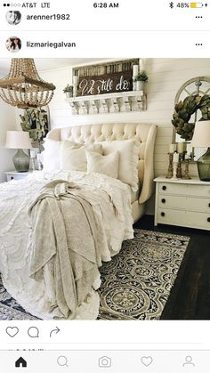 love the mirrors over bedside tables