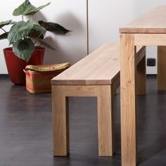 Oak Straight benches