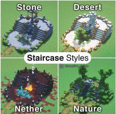 Plans Minecraft, Minecraft House Tutorials, Minecraft Room, Minecraft Tutorial, Minecraft Blueprints, Minecraft Furniture, Minecraft Stuff, Minecraft Staircase, Minecraft Bedding