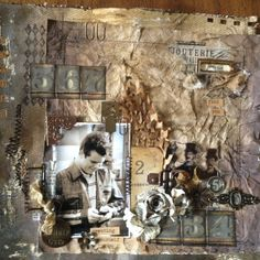 layout #2 in the Tim Holtz booth at CHA