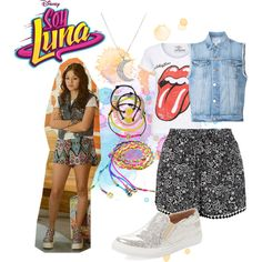 soy luna by maria-cmxiv on Polyvore featuring moda, Frame, New Look, Maiden Lane, Carole and Finn