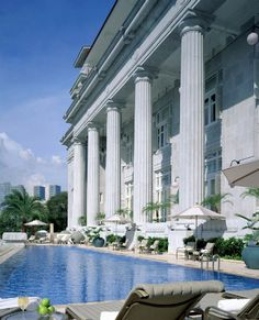 The Fullerton Hotel is impossible to miss, its majestic Doric columns soaring along the Singapore River, weaving into a landscape of steel skyscrapers, an Art Deco bank, and the tumble of colonial shop fronts on Boat Quay.