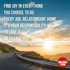 An inspirational quote by Chuck Palahniuk from Values.com