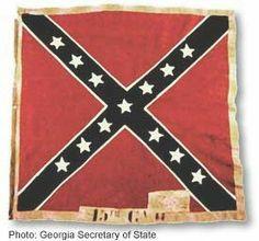 Surviving Confederate Battle Flag, 15th Regiment Georgia Volunteers