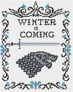House Stark cross stitch pattern por StitchItGooder en Etsy