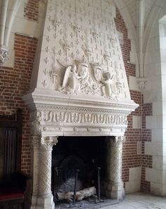 Foyers, Stone Fireplace Mantel, Fireplaces, Hearth And Home, Victorian Fashion, Photos, Indoor, France, Architecture