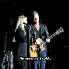 Stevie and Lindsey (via buckingham nicks ff) Stevie Nicks Lindsey Buckingham, Buckingham Nicks, 3 I, Fleetwood Mac, Concerts, Love Story, How To Remove, Hollywood, Cold