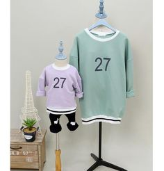 QZZ086 New autumn and winter mother and daught clothes cotton long sleeved sweater 27 numbers family matching outfits