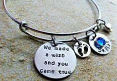 Personalized Bangle Bracelet Wire Bracelet-We by SimpleOfferings