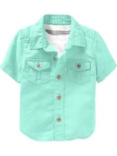 Toddler Boy - Linen-Blend Button-Front Shirts for Baby | Old Navy