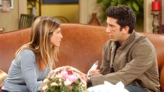 "FRIENDS -- ""The One Where Emma Cries"" -- Episode 2 -- Aired Pictured: Jennifer Aniston as Rachel Green, David Schwimmer as Dr. Ross Geller -- Photo by: Danny Feld/NBCU Photo Bank Get premium, high resolution news photos at Getty Images Friends Season, Friends Tv Show, Just Friends, Rachel Green Hair, Rachel Friends, Friend Quiz, Ross And Rachel, Tv Couples, Meet Local Singles"