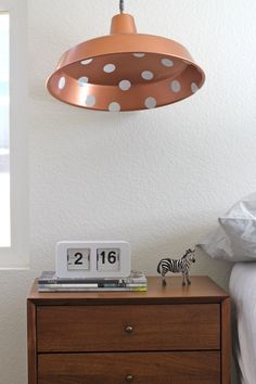 DIY Pendant Lamp:   a polka dotted pendant is my fave on http://www.youaremyfave.com