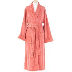 Get wrapped up in this snuggly fleece robe in a vivid coral hue. Soft and  warm 3ad5a05d8
