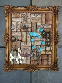 Jewelry Holder Picture Frame Bulletin Board by Happiness2DAY, $49.99