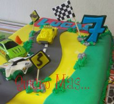 torta carrera de autos