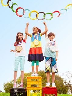 Fun-O-lympics party theme. Let the Games begin! Score big with these simple tests of skill and silliness!