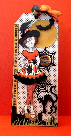 Fall / Halloween Julie Nutting Doll Tag Swap - - Powered by Halloween Paper Crafts, Halloween Tags, Fall Halloween, Prima Paper Dolls, Prima Doll Stamps, Rena, Halloween Scrapbook, Handmade Tags, Handmade Dolls
