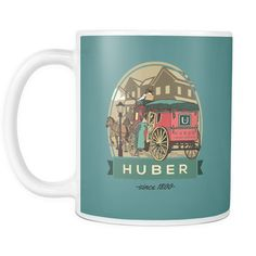 HUBER - Collective Drive - Save Unnecessary Carriages on the road, 11 Oz. Ceramic Coffee Mug