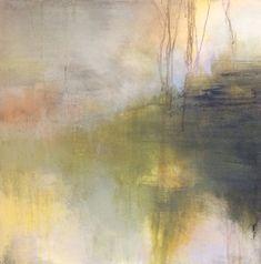 ' A light darkness, ' by Tonie Rigby, acrylic, 52 cm sq.