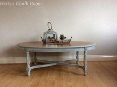 Elegant oval coffee table. Hand painted in by HettysChalkRoom