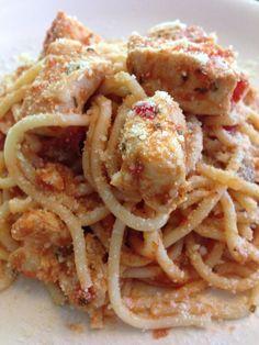 Spaghetti de pollo Spaghetti, Mexican, Ethnic Recipes, Food, Chicken, Dishes, Meals, Yemek, Noodle