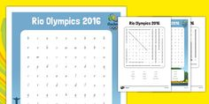 Rio Olympics 2016 Word Search - This 'Rio Olympics themed word search features key vocabulary for this topic. Great for consolidating spelling, you can use this resource as an opening to other independent writing activities, or just for fun! Free Teaching Resources, Teacher Resources, Rio Olympics 2016, English Language Arts, Year 2, Writing Activities, Spelling, Vocabulary, Word Search