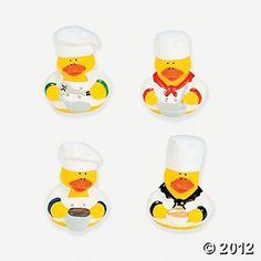 Chef Rubber Duckies favor