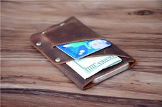 Leather Iphone Wallet Leather Iphone case Samsung galaxy Leather case Iphone leather cover by ZZvision on Etsy https://www.etsy.com/listing/252132377/leather-iphone-wallet-leather-iphone
