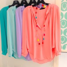 Loose, Flowy Blouses *these colors!* | @shopcandyapple clothes