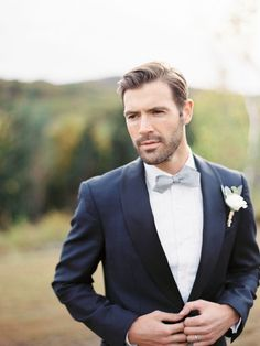 love the boutonniere and bow-tie