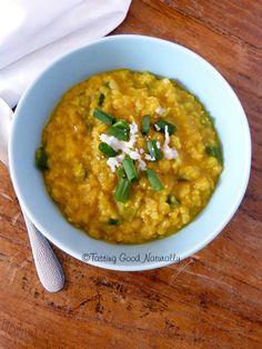 Dhal de lentilles aux oignons nouveaux #vegan - Tasting Good Naturally