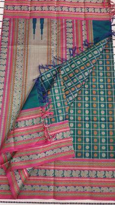 Kanchi handloom 1000 butta silk cotton saree in peacock blue color Cotton Sarees Handloom, Silk Sarees, Wedding Saree Collection, Ethnic Sarees, Facial Exercises, Face Yoga, Saree Models, Indian Attire, Peacock Blue