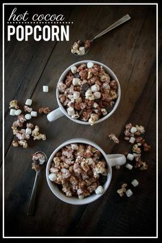 This hot cocoa popcorn recipe is so ridiculously easy and absolutely rewarding.
